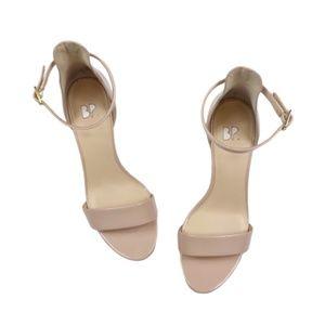 BP Pale Nude Pink Strappy Heels